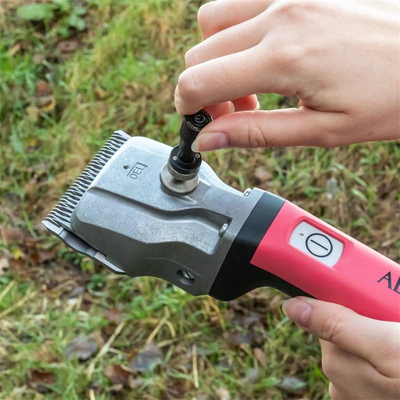 85141-12-tosatrice-per-cavalli-a-batteria-bonum-aesculap-rosa-2-batterie-ricaricabili-chiave-di-rego